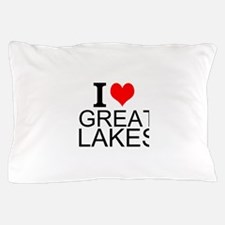 I Love Great Lakes Pillow Case