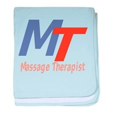 Modern Cool Massage Therapist baby blanket