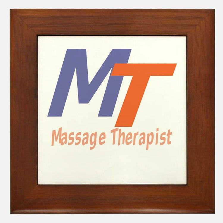 Modern Cool Massage Therapist Framed Tile