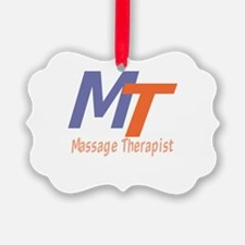 Modern Cool Massage Therapist Ornament