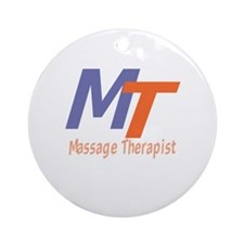 Modern Cool Massage Therapist Ornament (Round)