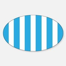 Blue And White Vertical Stripes Decal