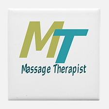 Logo Style Massage Therapist Tile Coaster