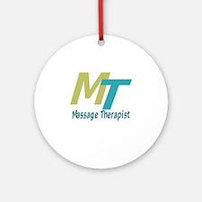 Logo Style Massage Therapist Ornament (Round)