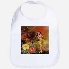 passion flower hawaii hula dancer Bib