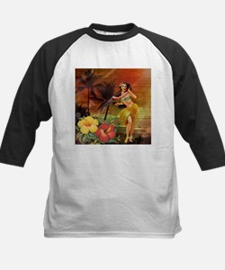 passion flower hawaii hula dancer Baseball Jersey