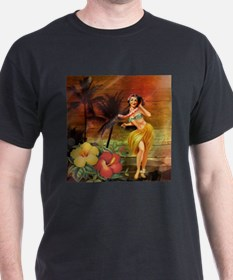 passion flower hawaii hula dancer T-Shirt