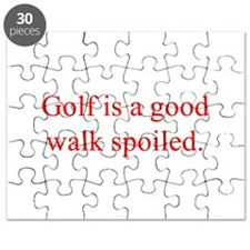 Golf is a good walk spoiled Puzzle