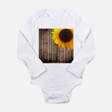 sunflower barnwood country Body Suit