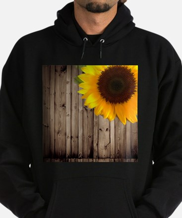 sunflower barnwood country Hoodie (dark)