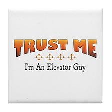 Trust Elevator Guy Tile Coaster