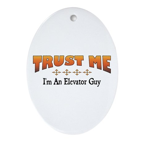 Trust Elevator Guy Oval Ornament