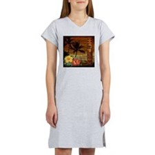 passion flower hawaii totem Women's Nightshirt