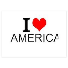 I Love America Invitations