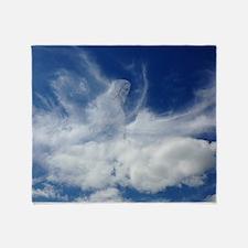 Jesus in Clouds Throw Blanket