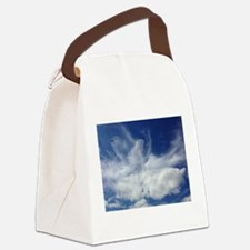 Jesus in Clouds Canvas Lunch Bag