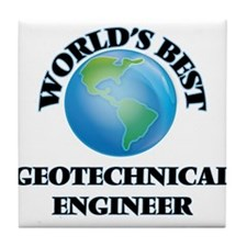 World's Best Geotechnical Engineer Tile Coaster
