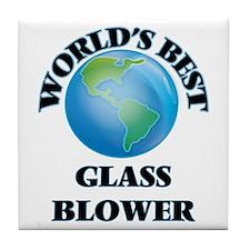 World's Best Glass Blower Tile Coaster