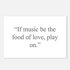 If music be the food of love play on Postcards (Pa