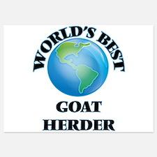 World's Best Goat Herder Invitations