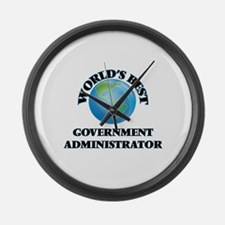 World's Best Government Administr Large Wall Clock