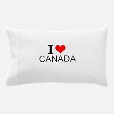I Love Canada Pillow Case