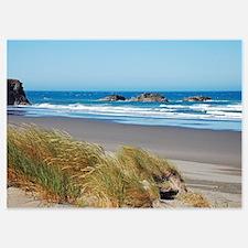 Blue summer ocean and beach Invitations