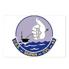CVL-48 A USS SAIPAN Multi Postcards (Package of 8)