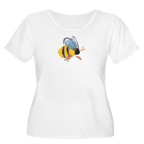 Bee - Watercolor Women's Plus Size Scoop Neck T-Sh