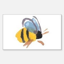 Bee - Watercolor Rectangle Decal