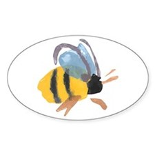 Bee - Watercolor Oval Decal