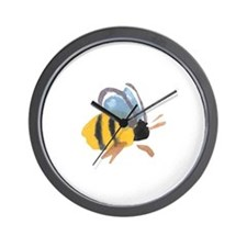 Bee - Watercolor Wall Clock