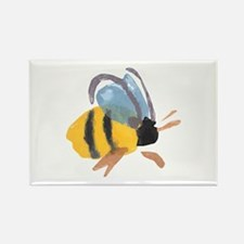 Bee - Watercolor Rectangle Magnet
