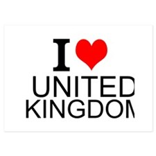 I Love United Kingdom Invitations