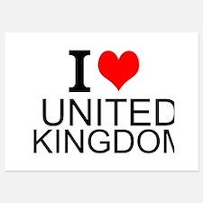 I Love United Kingdom Invitations