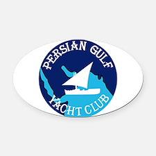 PERSIAN GULF YACHT CLUB South West Oval Car Magnet