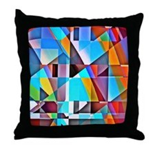 Cubist Rolling Hills Throw Pillow