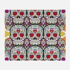 Sugar Skulls Throw Blanket