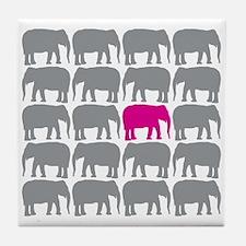 Elephants_T Tile Coaster