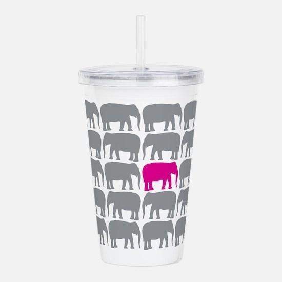 Elephants_T Acrylic Double-wall Tumbler