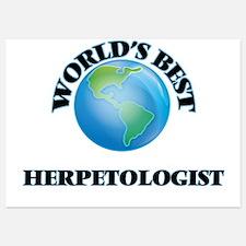 World's Best Herpetologist Invitations