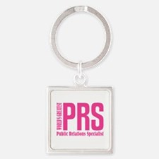 Public Relations Specialist Square Keychain