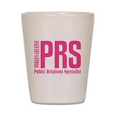 Public Relations Specialist Shot Glass