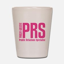 Public Relations Specialist Shot Glass