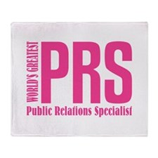 Public Relations Specialist Throw Blanket