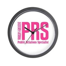 Public Relations Specialist Wall Clock