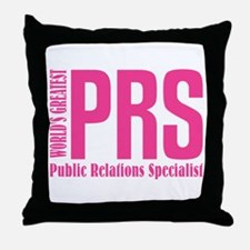 Public Relations Specialist Throw Pillow