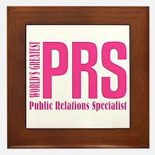 Public Relations Specialist Framed Tile