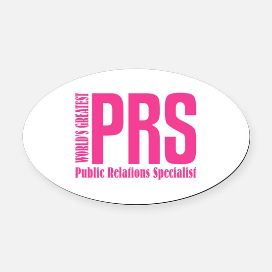 Public Relations Specialist Oval Car Magnet
