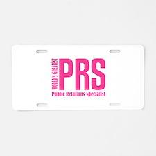 Public Relations Specialist Aluminum License Plate